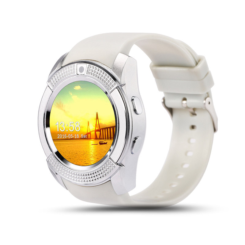 2016 Arrive Sportwatch Full Screen Smart Watches V8 For Android IOS Match Smartphone Support TF SIM