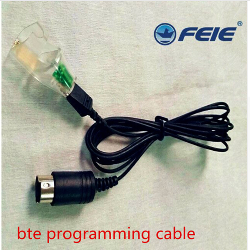 New arrival programming cable pro programmable wire compatible for RIC, CIC, BTE hearing aid with programmer cheap price economical large power 2 channels 10 bands programmable digital bte hearing aid with manually controlled voice wheel