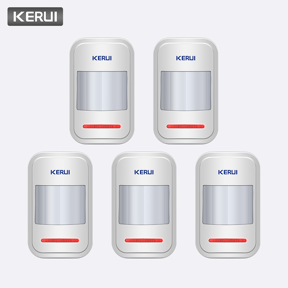 KERUI 5pcs lot P819433MHz Wireless Intelligent Detector PIR Motion Detector For Wireless Alarm GSM PSTN Auto