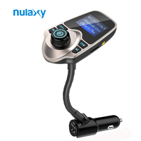 Nulaxy Car Stying MP3 Player Wireless Bluetooth Handsfree Car Kit Radio Adapter With USB Charger For