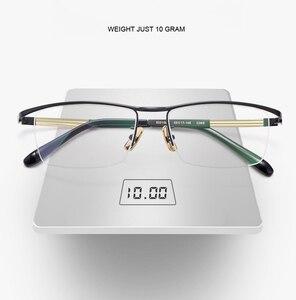 Image 3 - Handoer ためベータチタン光学ガラスフレーム男性眼鏡眼鏡眼鏡光学処方眼鏡 Browline スタイル