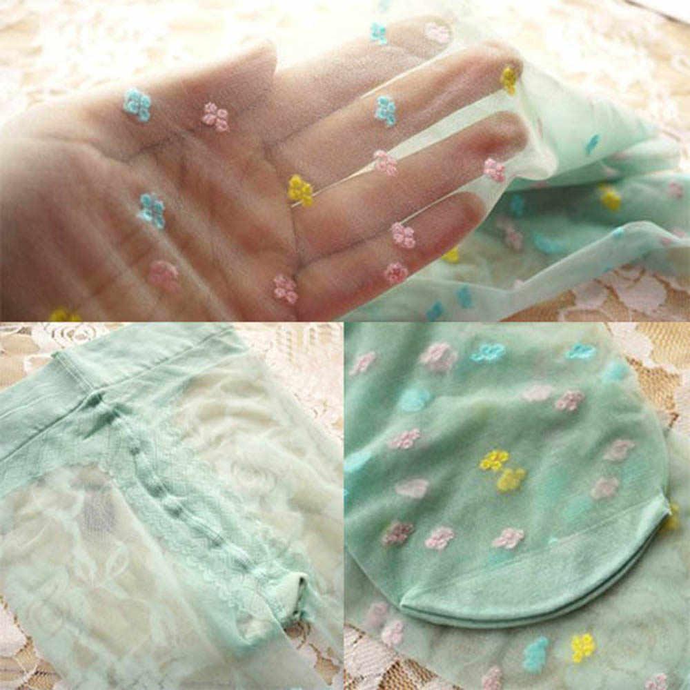 5-9Yเด็กสาวน่ารักสีลูกอมนุ่มถุงน่องผ้าไหมกำมะหยี่ดอกไม้ถุงน่องH3 A
