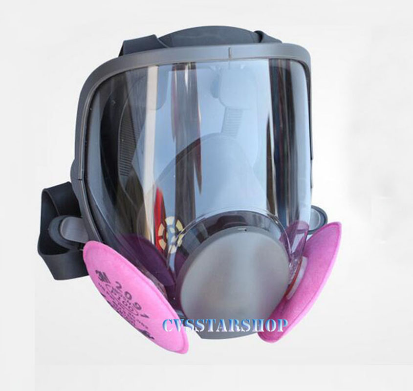3 In 1 Safety Painting Spraying Respirator Gas Mask same For 3M 6800 Gas Mask Full Face Facepiece Respirator sjl painting spraying respirator gas mask same for 3 m 6800 gas mask full face facepiece laboratories dust mask respirator