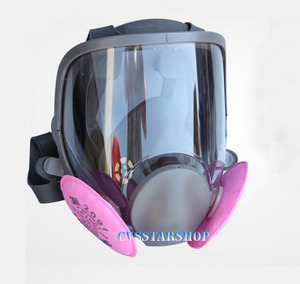 Image 1 - 3 In 1 Safety Painting Spraying Respirator Gas Mask same For 3M 6800 Gas Mask Full Face Facepiece Respirator