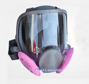 Image 1 - 3 en 1 peinture de sécurité pulvérisation respirateur masque à gaz même pour 3M 6800 masque à gaz masque facial complet respirateur
