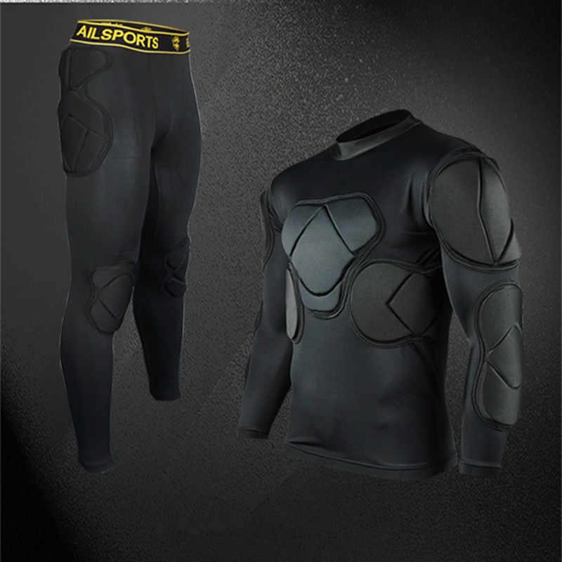 2018 hombres profesional fútbol portero pantalones jerseys Survetement fútbol thicken EVA camisa chaquetas goal keeper uniformes
