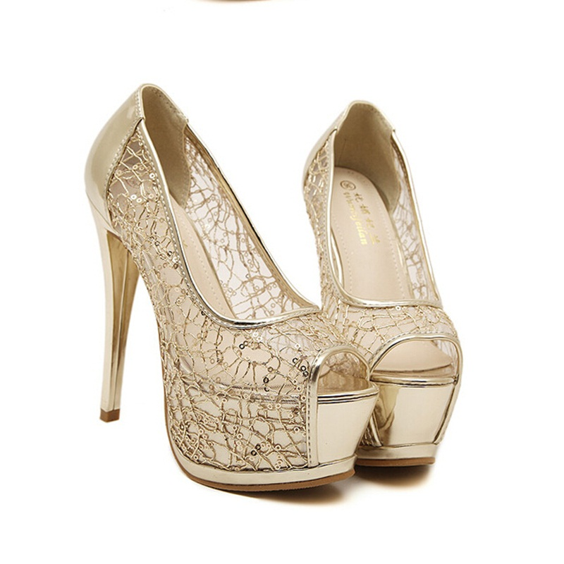 Popular Silver Lace Pumps-Buy Cheap Silver Lace Pumps lots from