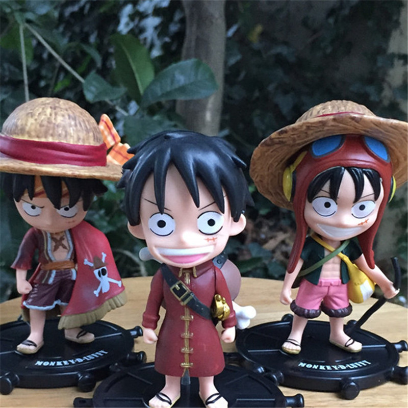 3pcs/lot ONE PIECE Luffy After 2 Years Figures Kids Toys