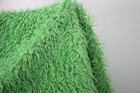 Groene kleur Mongoolse Krullend Schapen 5 cm lange stapel Faux Fur Stof, baby fotografie props, 150*50 cm/pcs, gratis verzending