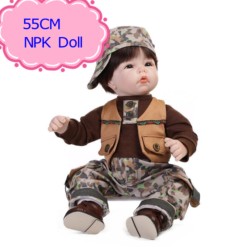 NPK 55cm 22inch Reborn Baby Dolls For Sale For Babies As Christmas/Birthday Gift Hot Sell Vinyl Reborn Toddler Dolls Best Toys hot sale 2016 npk 22 inch reborn baby doll lovely soft silicone newborn girl dolls as birthday christmas gifts free pacifier