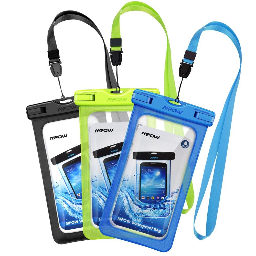 Original Mpow 3pcs 6.0'' IPX8 Waterproof Phone Case