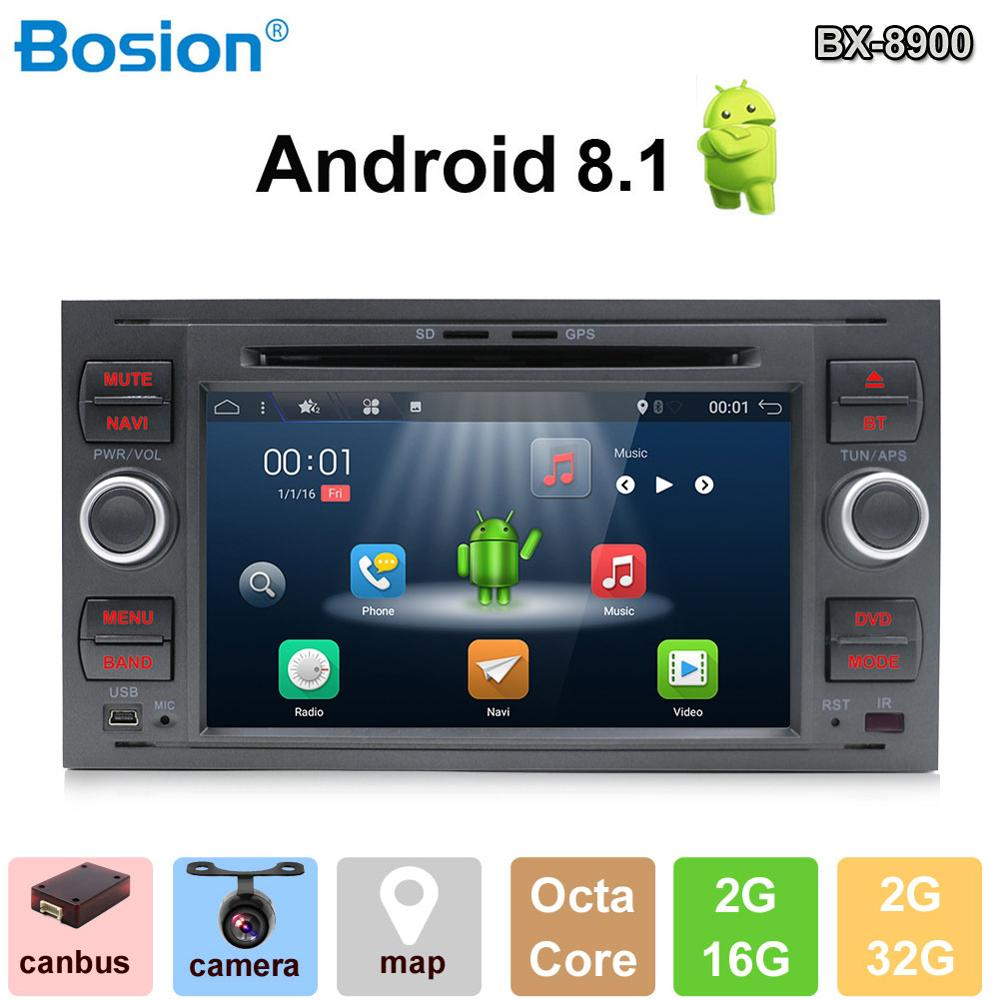 Android 8.1 2Din 8 core7 Inch Car DVD Player For Ford/Mondeo/Focus/Transit/C-MAX/S-MAX/Fiesta GPS Navigation Radio WIFI BTAndroid 8.1 2Din 8 core7 Inch Car DVD Player For Ford/Mondeo/Focus/Transit/C-MAX/S-MAX/Fiesta GPS Navigation Radio WIFI BT
