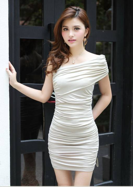 Sexy Summer Strapless Women Tight Dress 2018 Fashion New Fold