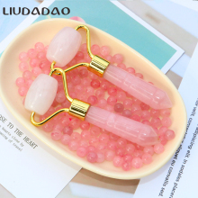 Mini Rose Quartz Face Lift Rollers Tools Portable Small Facial Roller Massager For Women Be