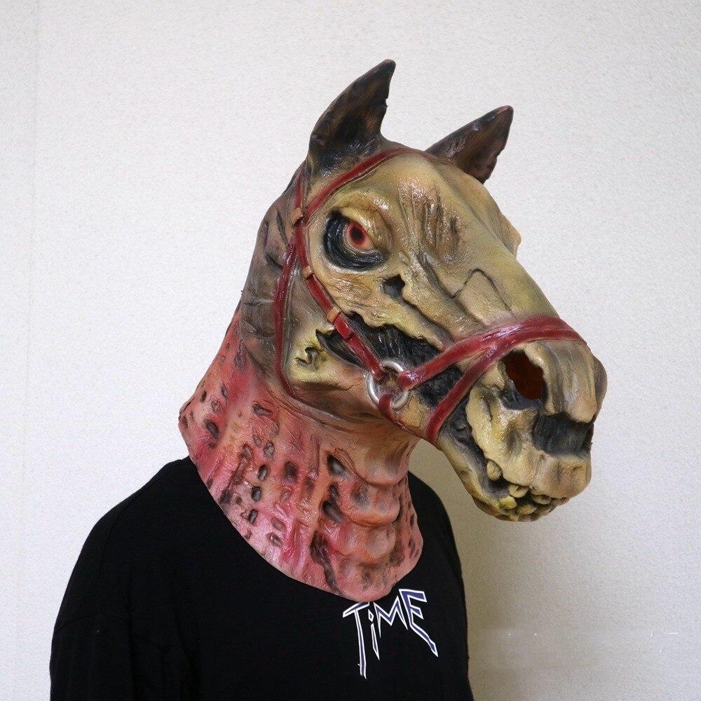 horse head cosplay horror skeleton mask halloween stage latex mask