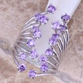 Divine Purple Amethyst 925 Sterling Silver Ring For Women Size 5 / 6 / 7 / 8 / 9 / 10  S0451
