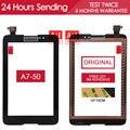 ОРИГИНАЛ ИСПЫТАНИЯ 7.0 дюймов Черный Планшетный ПК с Сенсорным Экраном Для Lenovo Tablet Idea Tab A7-50 A3500 Сенсорный экран Частей Клей