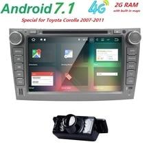2 din android 7.1 radio de coche Para Toyota corolla 2007 2008 2009 2010 2011 en dash1024 * 600 autoradio gps unidad principal multimedia de 2 GRAM