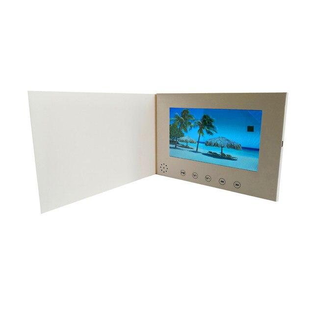 7 אינץ מסך 8 GB חוברת אוניברסלי וידאו ברכה כרטיסי אופנה עיצוב וידאו פרסום כרטיסי צפייה חוברת (hyh 3070)
