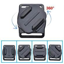360 Degree Rotatable 2 Pcs Curved & 2Pcs Flat Adhesive Mounts Quick release plate for GoPro Go pro 3+ 3 2 1