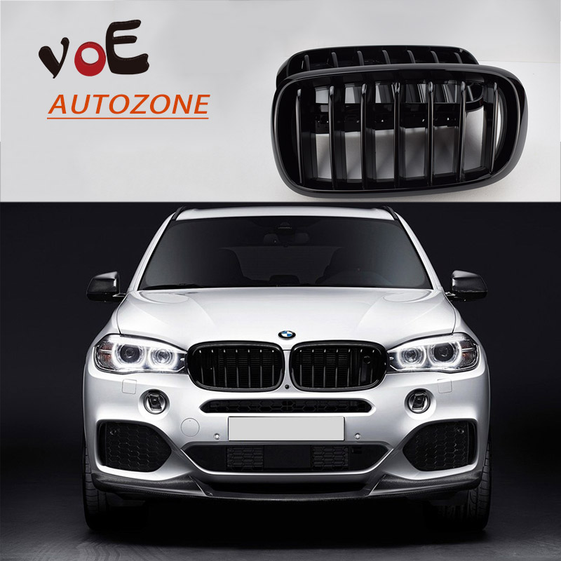 F15 F16 Kidney Gloss Black ABS Plastic Original Style Front Racing Grill Grille for 2014 2015 2016 BMW F16 X6 BMW F15 X5 2007 2013 kidney shape matte black abs plastic e70 e71 original style x5 x6 front racing grill grille for bmw e70 x5 bmw x6