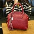 2016 european women designer brand women messenger bags top pu leather shell tassel crossbody Bags small handbag for girls QF03