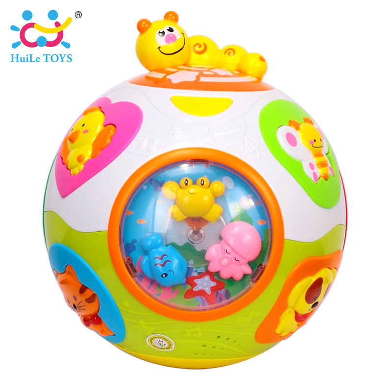 HUILE-TOYS-938-Baby-Toys-Toddler-Crawl-Toy-with-Music-Light-Teach-ShapeNumberAnimal-Kids-Early-Learning-Educational-Toy-Gift-2