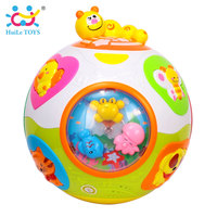 HUILE Baby Electronic Ball Kids Puzzle Toys Crawl Toy Musical Instruments Early Teach Shape Number Animal