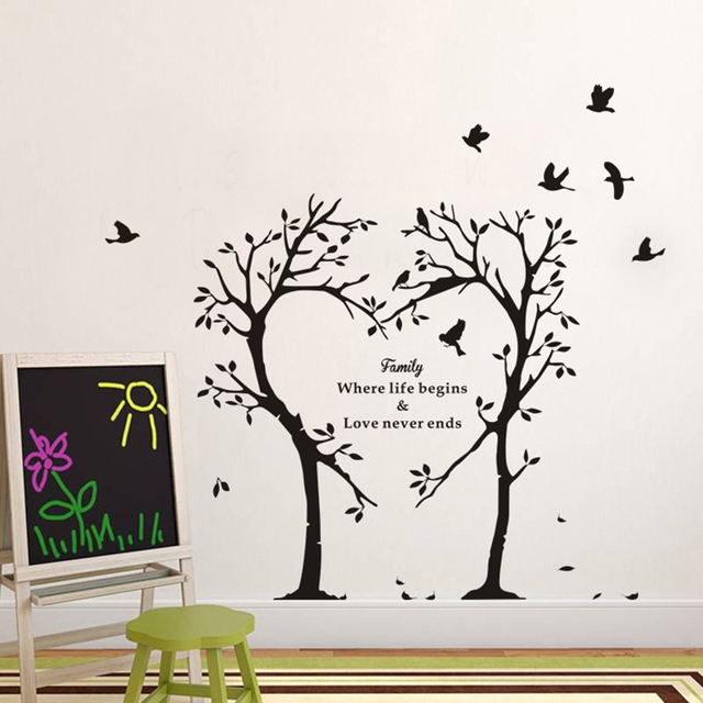 The Giving Tree Wall Stickers 60 70cm Creative Pvc Wall Art Bedroom