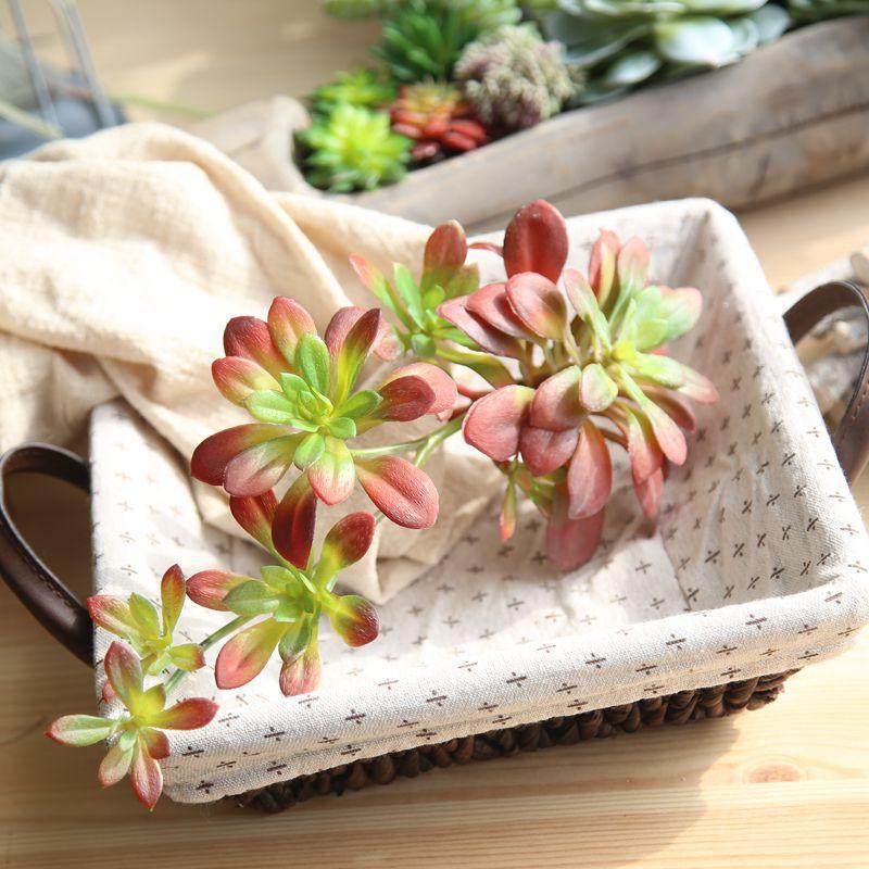 Green Artificial Succulents Plants Grass Artificial Plant 17cm Fake Flower Arrangement Garden Decor Home Office
