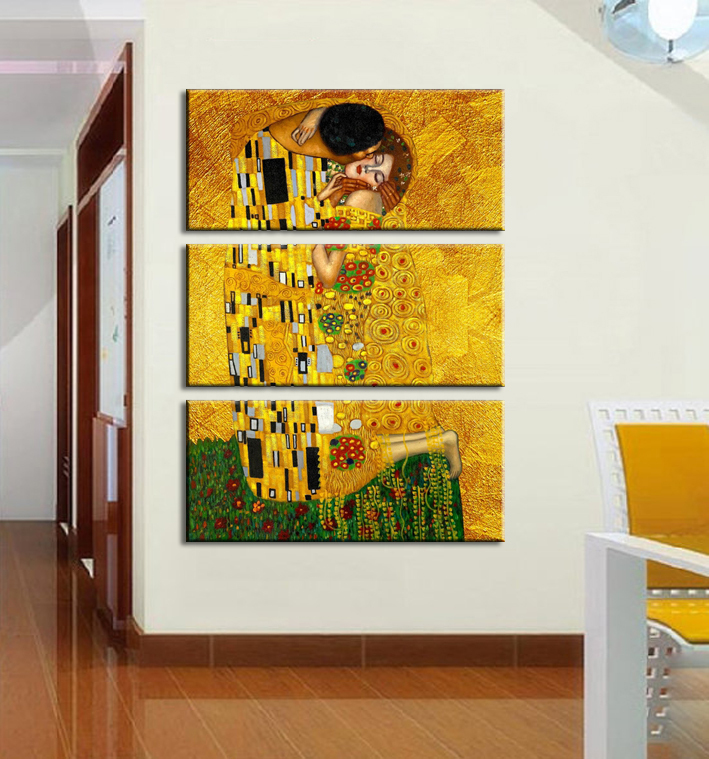 Gustav Klimt Printed Oil Painting Canvas Wall Art Prints Picture Living Room Home Decoration Hotel - Decor store