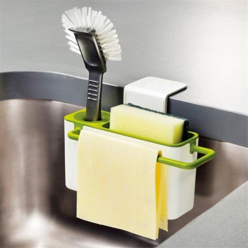 Sponge Shelf Kitchen Box Draining Rack Dish Shelf Draining Sink Storage Hanging Suction Kitchen Organizer Stands Utensils Rack