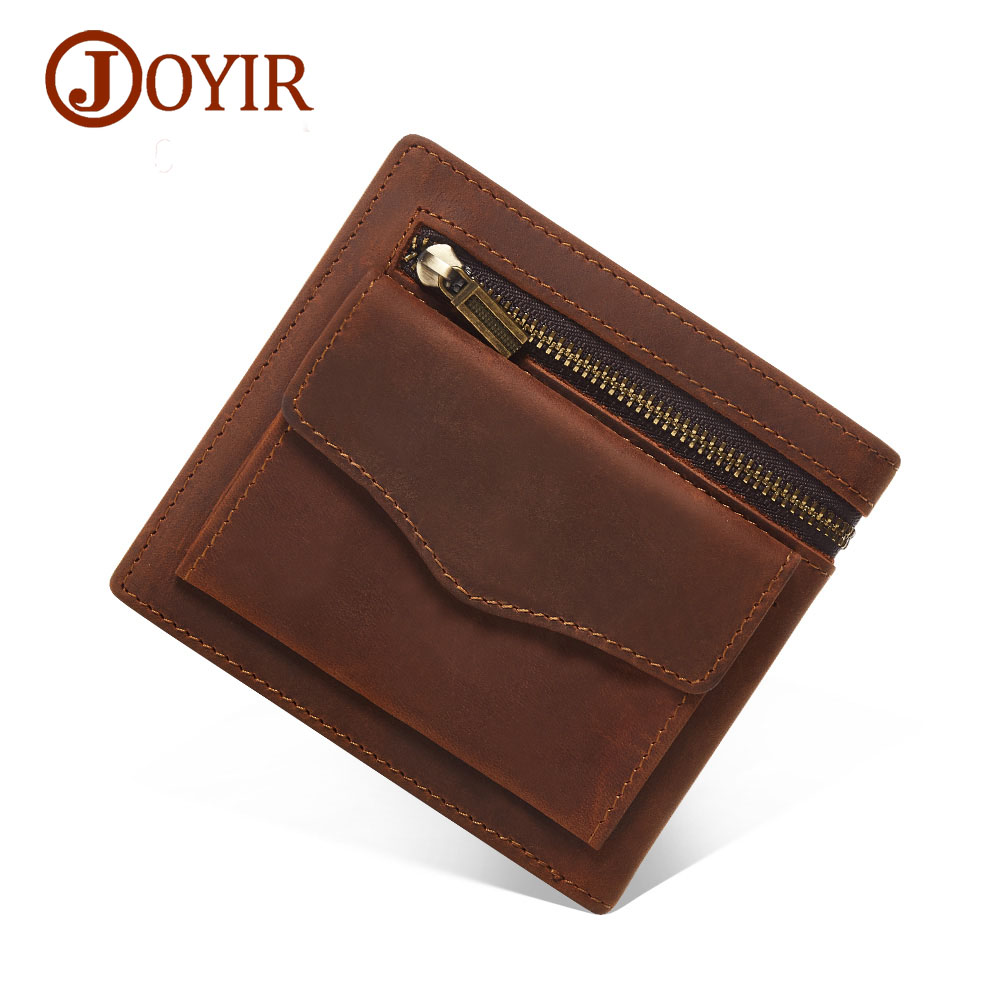 Famous Brand Genuine Leather Men Wallets Vintage Small Wallet Male Slim Purse Mini Wallet Coin Purse Money Credit Card Holder joyir vintage men genuine leather wallet short small wallet male slim purse mini wallet coin purse money credit card holder 523