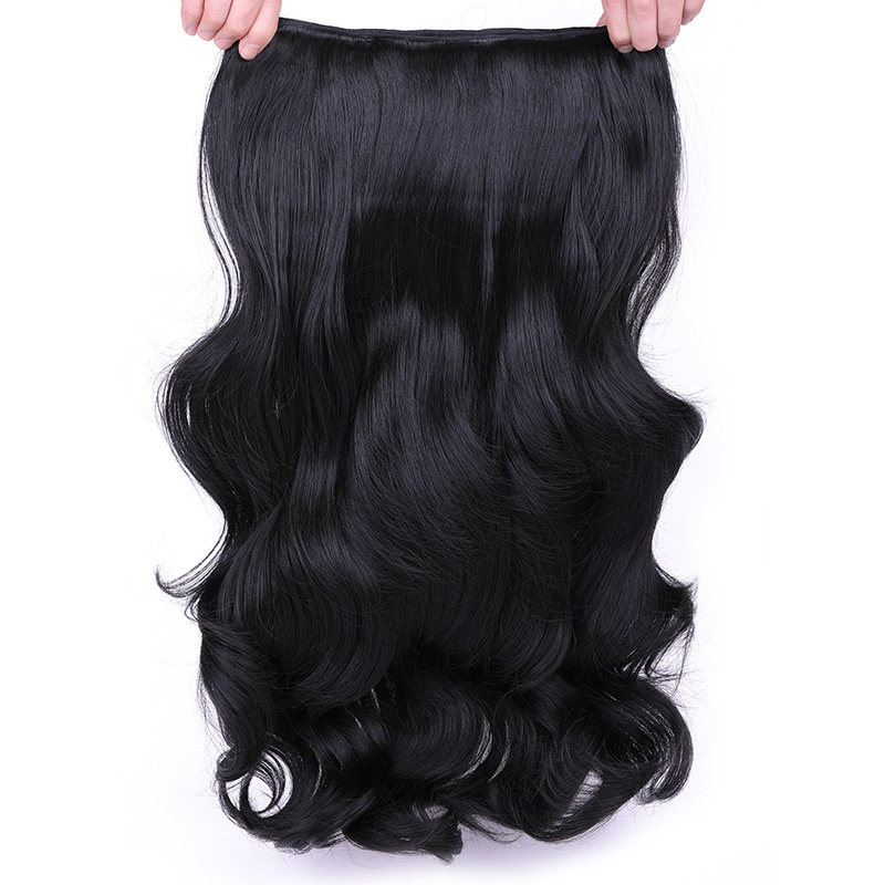 Clip In Hair Extensions Natural Halo Hair Extensions 4 Clips One Piece Ins 24 inch 190g Synthetic Heat Resistant Fiber