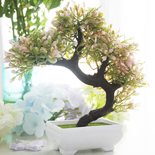 Simulation Plants Pine Trees Bonsai Artificial Flower Potted Fake Flowers for Wedding Christmas Home Decoration