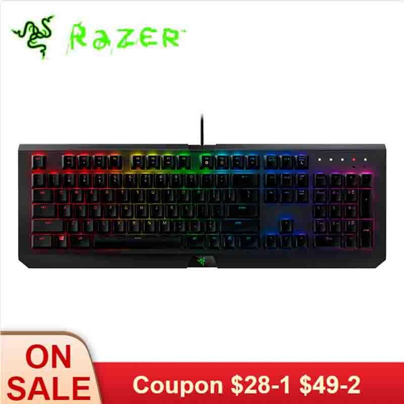 Clavier de jeu mécanique Razer blackveuve X Chroma clavier filaire rétro-éclairage rvb pour ordinateur portable PC Gamer