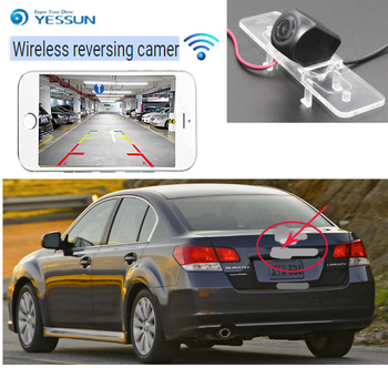 YESSUN car wireless Rear View Camera For Subaru Legacy Sedan 2003~2009 Reverse Camera CCD hd Night Vision license plate camera