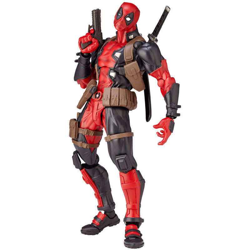 Marvel Deadpool joint movable face hand model toy soldier children gift ornaments environmental protection material The Avengers marvel platinum the definitive deadpool