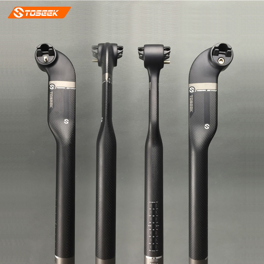 Toseek Pro Cycling Bicycle Full 3k Carbon Seatpost for Road Mountain Bike 27 2 30 8