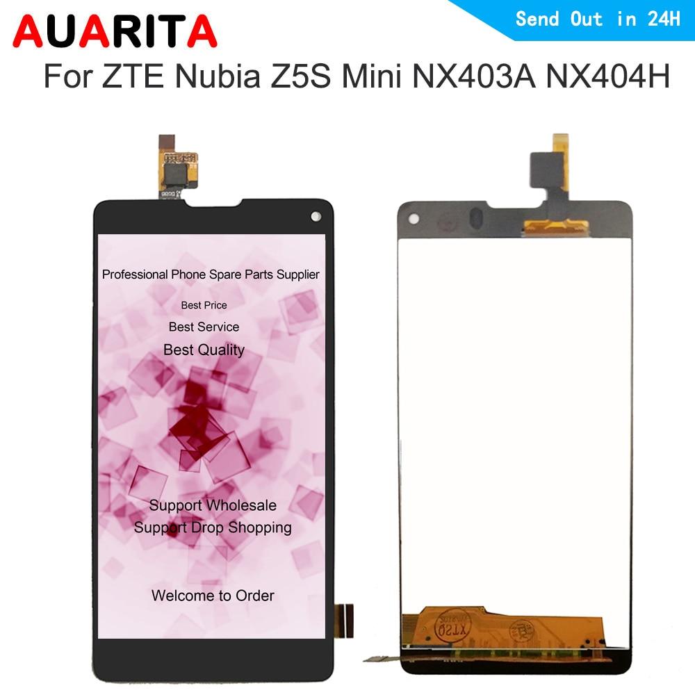 AAA qualität lcd display Für ZTE Nubia Z5S Mini NX403A NX404H LCD Display touchscreen digitizer Vollversammlung Für ZTE z5S mini
