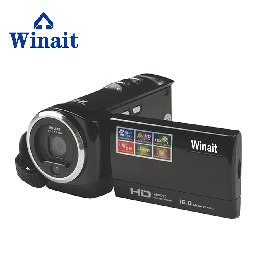 Winait Professional Cheapest HD Digital Video Camera with CMOS 2.0 Mega pixels Mini Cameras Flash Camcorder free shipping free shipping winait full hd 1080p mini new arrival 18mp cameras digital 2 4ltps camcorder winait dv dc v700