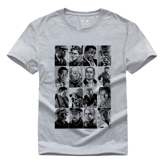 The Wire Men\'s t shirt Hip Hop Man Short Sleeve Round Neck tshirt ...