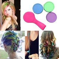 Free Shipping 4Pcs Hair Chalk Temporary Soft Pastel Colour Kit Dye Hair Powdery Cake GUB