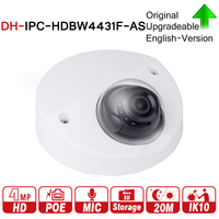 DH IPC HDBW4431F AS 4MP IR Mini Dome Network IP Camera 20m IR Support Micro SD Card Smart Detection H.265 WDR IP67 IK10 PoE