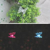 3pcs Solar Power LED Lamp Colorful Outdoor Yard Lawn Garden Decoration Cute Dragonfly Bird Butterfly Shape