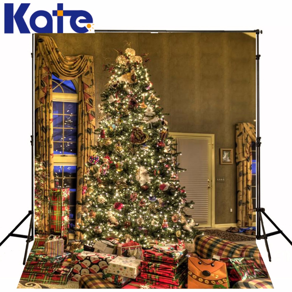 Kate Indoor Photo Background  Christmas Tree Muslin Christmas Backdrop With Window Gift Sparkling Background Photography fashion denim backpack preppy style casual shoulders double shoulder bag schoolbag style blue x 59966