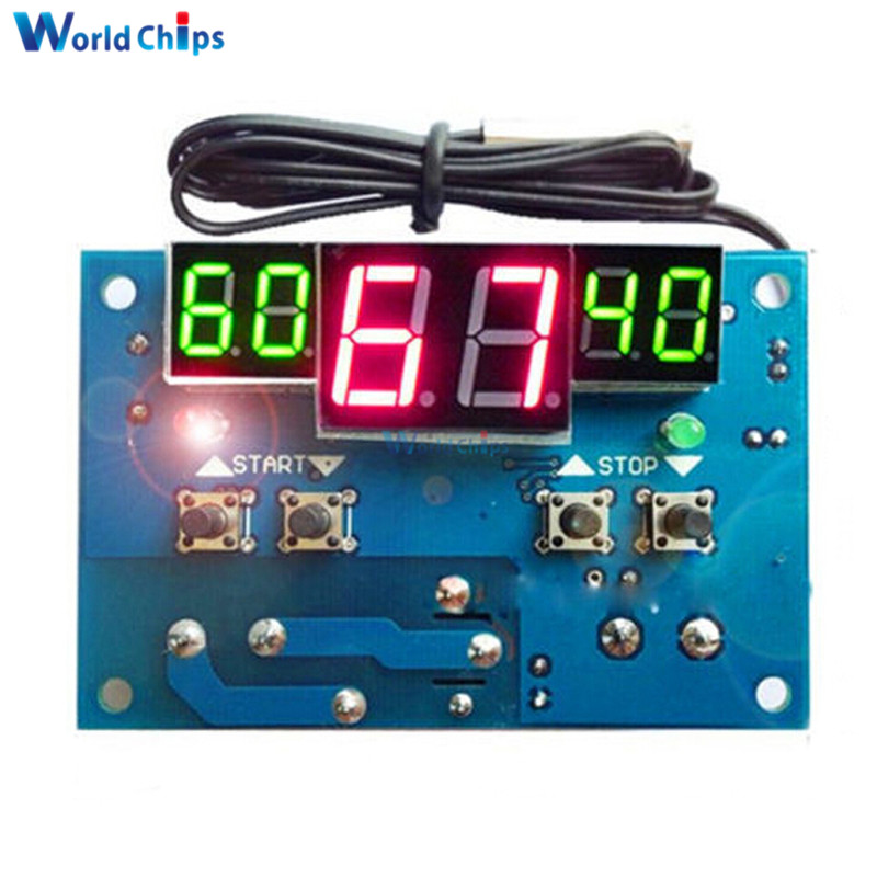 Automatic Adjustment! W1401 LED Digital Thermostat Temperature Controller -9-99C Thermostat <font><b>Module</b></font> <font><b>12V</b></font> DC/<font><b>220V</b></font> AC + NTC Sensor image