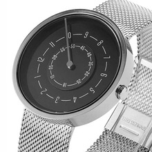 Couple Watch Men Women Minimalist Turntable Numbers Dial Wristwatch Casual Leath