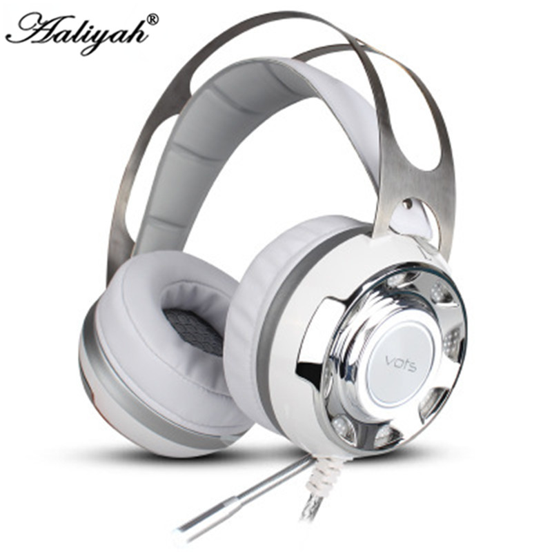 ФОТО Aaliyah Surround Sound USB Gaming Headphones Professional Over-Ear Game Headset Noise Isolating with Mic for Computer Game
