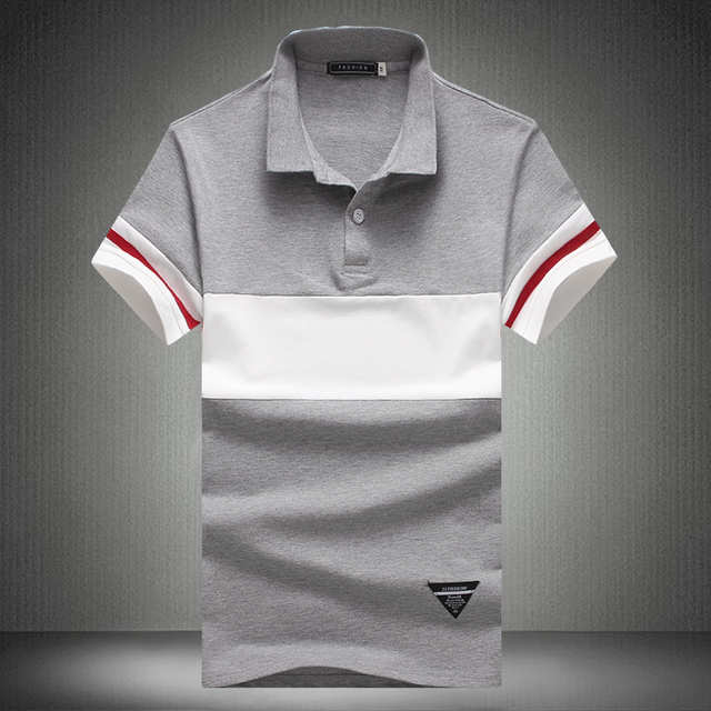 d927fc21c 2017 Summer fashion male slim fit cotton short sleeve polo shirts/Male high- end leisure brand color matching polo shirts